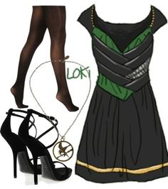 """loki dress"" by bruiser147 ❤ liked on Polyvore"