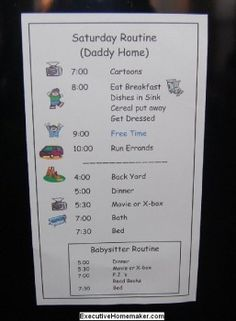 Daily Schedule Printables