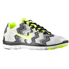 Nike Free TR Fit 3 Print - Women's - Training - Shoes - Black/Volt/Wolf Grey