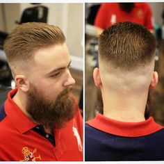men with cool military haircut