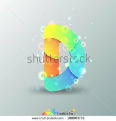 D Letter. Road Font Illustrazione Vettoriale di Stock: 160205264 : Shutterstock