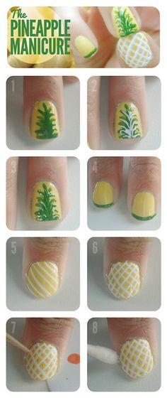 Pineapple Nails            - Pretty Primping!