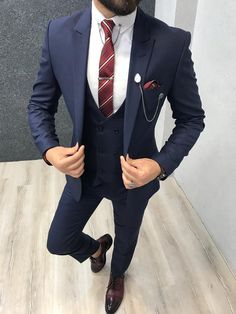 Marc SlimFit Blue is part of Navy blue suit - Product SlimFitColor code navy blue Size material Machine washable No Fitting Slimfit Remarks Dry Cleaner
