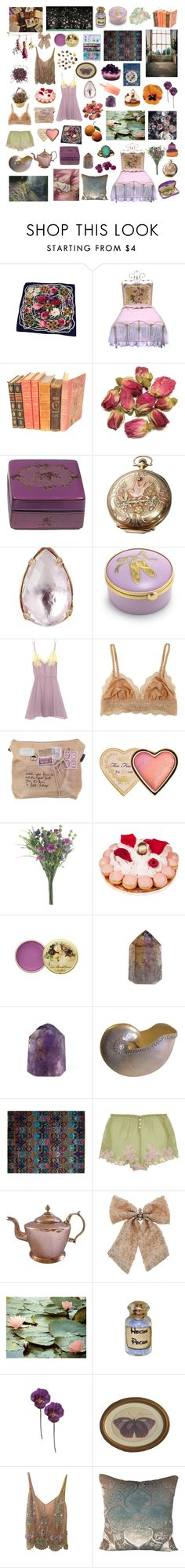 """""""Untitled #2196"""" by zoella ❤ liked on Polyvore featuring Chanel, Grayce, Ladurée, Etro, Elgin, Larkspur & Hawk, Tiffany & Co., Rosamosario, Cosabella and Too Faced Cosmetics"""