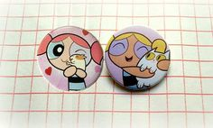 The powerpuff Girls - button badge or magnet 1.5 Inch