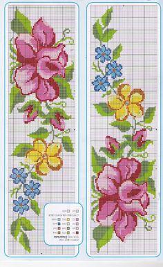Esquemas de Flores en punto de cruz | Tu Punto de Cruz