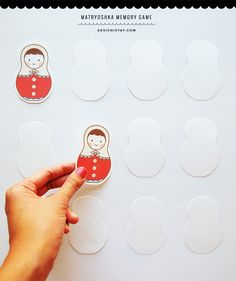 Printable Matryoshka dolls. Use them as gift tags or as a fun memory game for kids.