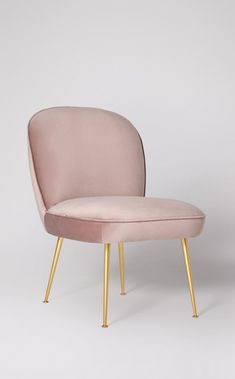 The Cassio in dusty pink, £449. A beautiful cocktail chair in a beautiful pastel tone. SWOONEDITIONS.COM