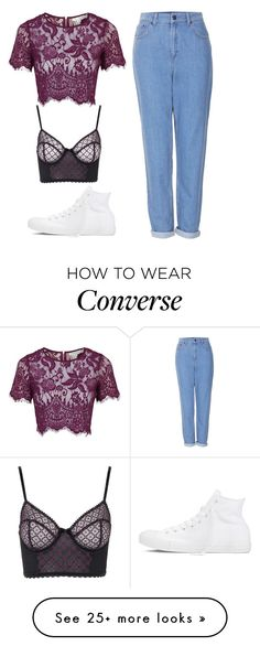 """""""Untitled #3651"""" by antonellac15 on Polyvore featuring Topshop and Converse"""