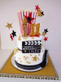 Movie Birthday Party Cake