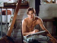 Brad Pitt Shirtless, Shirtless Men, Beautiful Boys, Pretty Boys, Cute Boys, Beautiful People, Bradd Pitt, Celine, Brad Pitt Photos
