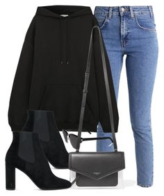 """#13915"" by vany-alvarado ❤ liked on Polyvore featuring Balenciaga, Yves Saint Laurent and Givenchy"