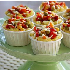Baked potatoes in muffin paper - you can do this in small bowls salad salad salad recipes grillen rezepte zum grillen Arabic Food, Iftar, Turkish Recipes, Appetisers, Easy Snacks, Food Presentation, No Bake Cake, Catering, Dessert Recipes