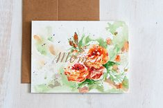 Mothers day card unique HandPainted Watercolor cards
