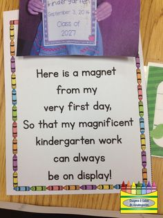 This past Tuesday was my 'Meet the Teacher' night... I can stand in front of a room and kinders and 'put on my show' day in and day out...