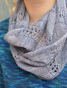 Hunter St. Cowl by @Glenna C: knitted in Tanis Fiber Arts in Pink Label Lace Weight in 'Dove'.