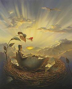 Birth of Love. Vladimir Kush. Surrealist Artist. Painting. Modern Contemporary Art. Surrealism.
