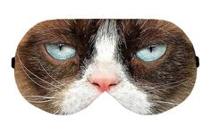 Grumpy Cat Tardar Sauce Sleep Sleeping Eye Night Mask Masks Blindfold  Eyes cover shade patch Slumber Eyemask Sleepmask Eyewear Present Gift by venderstore on Etsy