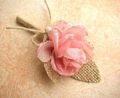 Blush Pink Boutonniere  Rustic Wedding  Groom  by FloroMondo