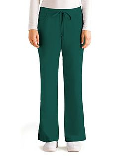 7d4a164cd40 Grey's Anatomy 4232 Junior 5 Pocket Drawstring Scrub Pant With Elastic Back  Hunter Green S Petite for sale online