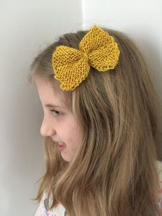 Yellow Wool Bow Barrette by WoolandViolets on Etsy
