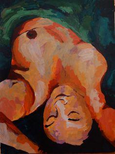 'Gina' 760mm x 1010mm acrylic on canvas $1250