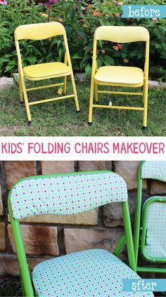 Kids' Folding Chairs Makeover