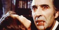 The horror film DRACULA A. starring Christopher Lee and Peter Cushing has been released on Blu-ray by Warner Archive Collection. Hammer Horror Films, Hammer Films, Horror Movies, Horror Pics, Horror Art, Christopher Lee, Science Gallery, The Frankenstein, Film Icon