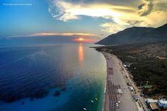 pak diell n'perëndim  #drimades #beach #albania