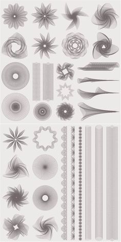 Set of vector watermark decorations wheels, collars and multibeam stars (symmetrical pen patterns) for your designs. ? Free download. ? Ready for print. ? .ai .eps for Adobe Illustrator. ? Over 10,000+ vectors.