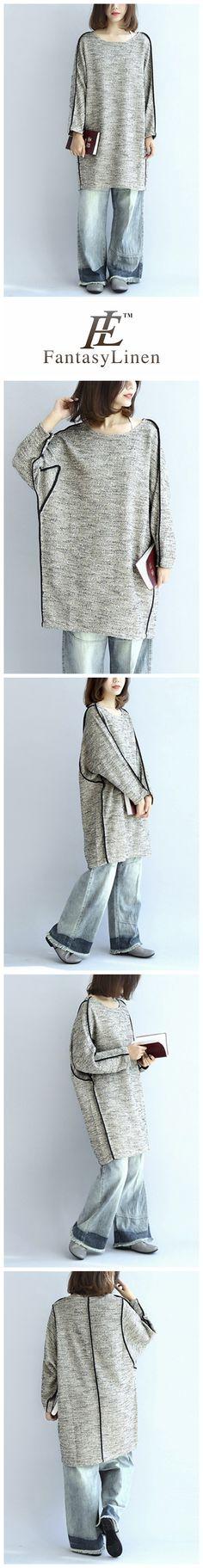Linen Cotton Loose Dress Shirt Women Clothes Q7131