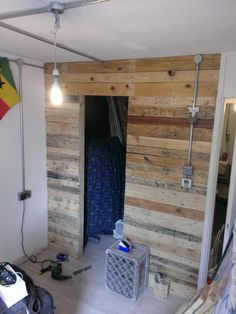 7 - All boards fixed, By Upcycle Interiors Ltd Cladding, Building Design, Pallet, Upcycle, Boards, Interiors, Flooring, Architecture, Planks