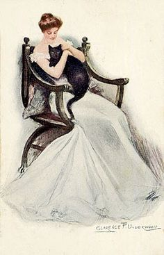 Vintage card (ill. by Clarence F. Underwood)
