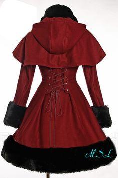 10 coloris : Manteau en laine lourde, fausse fourrure amovible V00012PC