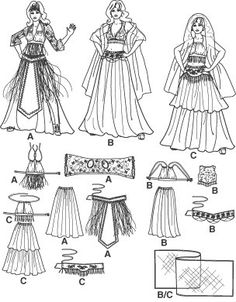 Diy Sewing Pattern-Simplicity 2941-Belly Dance Costume-Circle Skirt pattern-Belly Dance Belt Pattern. $6.00, via | http://awesomeinspirationquotesleda.blogspot.com