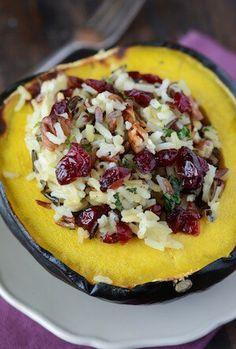 Stuffed Acorn Squash (recipe via thenovicechefblog.com)