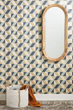 Cerium Concrete Geometric Textured Wallpaper | Anthropologie