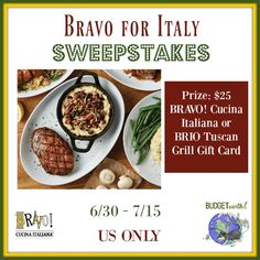 BRAVO for Italy Sweepstakes {US | 07/15} | #ad #BRAVO #BRIO #ItalianFood #Foodie - Pink Ninja Blogger