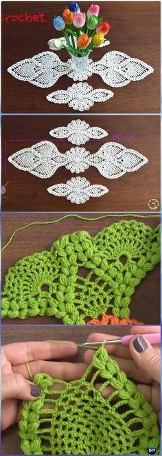Crochet Puff Pineapple Table Runner Free Pattern Video - Crochet Table Runner Free Patterns