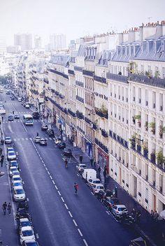 Balcony view, Paris| by © Rebecka Bjurmell | via refluent