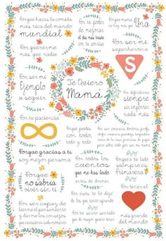 1000 images about poemas on pinterest frases amor and dios - Detalles dia de la madre ...