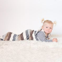 Linzi Merino Natural Stripe Sleepbag