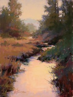 """Off in the Distance    Barbara Jaenicke Pastel on Panel 12 x 9"""""""