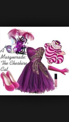 Cheshire Cat ball gown