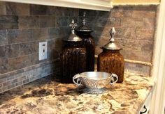 Travertine Tile color Silver for Kitchen Backsplash Remodel