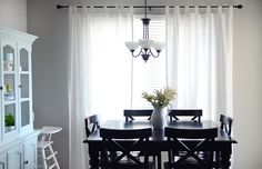 Paint colors:    Gray: Notre Dame by Valspar    Aqua: Aqua smoke by Behr I think this is going to be our dining room colors! Black table and all already!