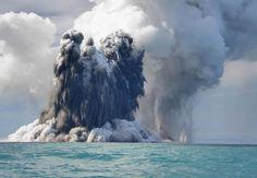 Undersea volcano eruption photo off the coast of Tonga, by photographer Dana Stephenson