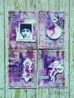 """ATC Set """"Lady Chatterley"""" I would like to share my latest mixed media ATC sets...         Natural Post Card              ATC 1 goes to  Klárka   ATC 2 goes to -..."""