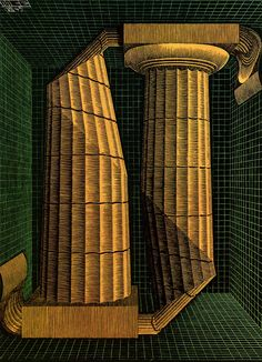Maurits Cornelis Escher - Doric Columns