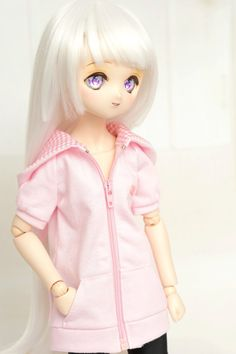 Short Sleeve Jacket with hood only. (Pink)  Size : - For MDD - Mini Dollfie Dream & MSD - Mini Super Dollfie dolls. (S-M-L Bust)  Shipping : - send by registered air mails (Your items will be sent within 5 working days after the payment is confirmed.)  Payment : - PayPal only.  Remarks : - Doll, wig, dress & other accessories are not included.  Thank you